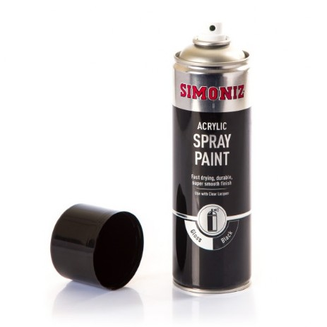 BLACK GLOSS SPRAY PAINT
